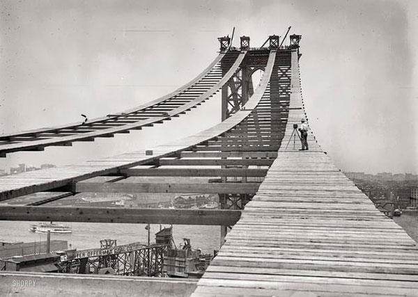 Construction of Manhattan Bridge